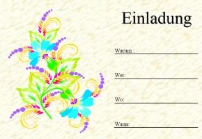 Einfache Einladungskarten Ausdrucken