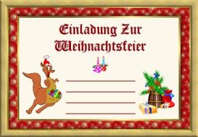 einladungen weihnachtsfeier vereine, Einladung