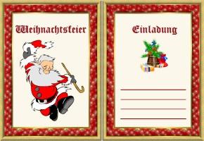 einladungskarten weihnachtsfeier - designideen, Einladung