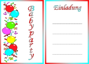 Baby Party Einladung 31