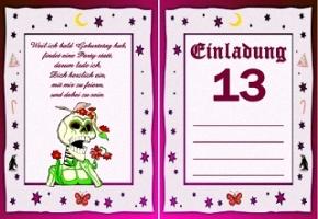 Einladung 13 Geburtstag  askcelesteinfo