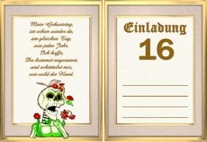 Einladungskarten 16 Geburtstag, Einladungs