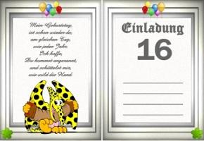 Einladung 16 Geburtstag U2013 Ledeclairage, Einladungs