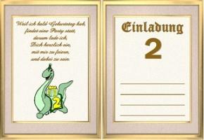 Einladungskarten U2013 Einladung 2. Geburtstag U2013 Ein Designerstück Von,  Einladung