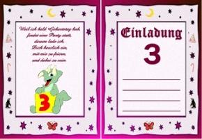 Einladungskarten 3 Jahre