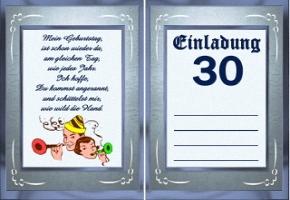 einladungskarten zum 30 geburtstag kostenlos – cloudhash, Einladung