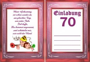 einladung 70 geburtstag kostenlos – cloudhash, Einladungsentwurf