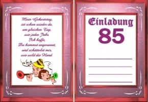 einladung 85 geburtstag – kathyprice, Einladungsentwurf