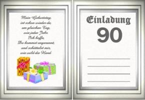 Einladungskarten 90 Geburtstag