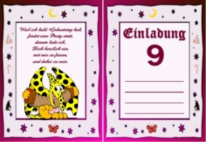 Geburtstag kinder einladungskarten kostenlose Einladungskarten kostenlos