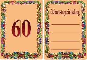 Geburtstag einladung 60 jahre