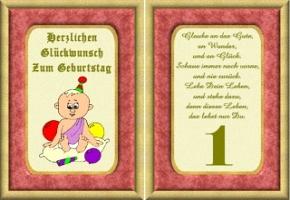 Geburtstagskarten 1 Geburtstag
