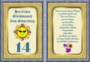Geburtstagskarten 14 Geburtstag