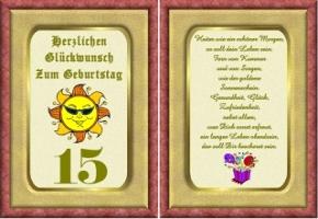 15 Geburtstag Spruche Und Gluckwunsche
