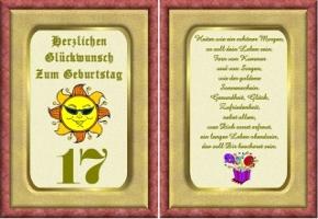 Geburtstagskarten 17 Geburtstag