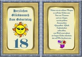 Geburtstagskarten 18 geburtstag