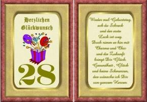 Geburtstagskarten 28 Geburtstag