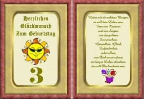 Geburtstagskarten 3 geburtstag
