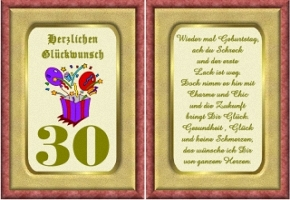 Geburtstagskarten 30 Geburtstag