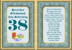 Geburtstagskarten 38 Geburtstag