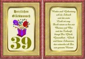 Happy Birthday In Keksschrift Zum 39 Geburtstag