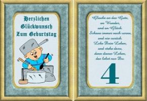 4 jahre geburtstagskarte. GeburtstagsBilder, Geburtstagskarten und