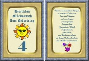 Geburtstagskarten 4 Geburtstag