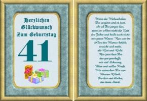 Geburtstagskarten 41 Geburtstag