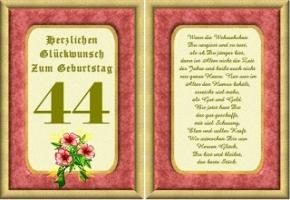 Geburtstagskarten 44 Geburtstag