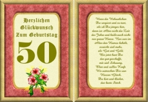 Geburtstagskarten 50 Geburtstag