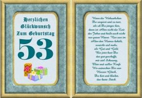 Geburtstagskarten 53 Geburtstag