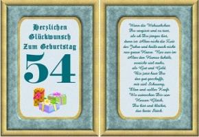 Geburtstag 54