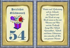 Geburtstagskarten 54 Geburtstag