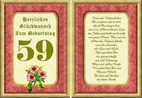Geburtstagskarten 59 Geburtstag