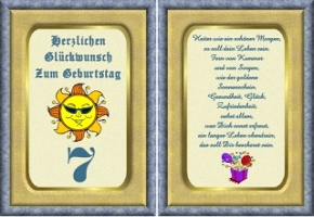 Geburtstagskarten 7 Geburtstag