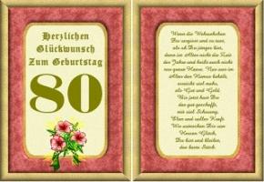 Geburtstagskarten 80 Geburtstag