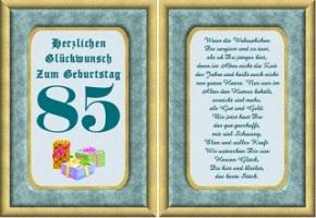 Geburtstagskarten 85 Geburtstag