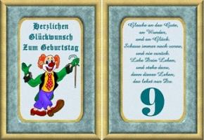 Geburtstagskarten 9 Geburtstag