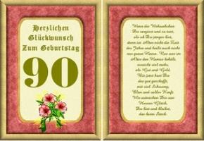 Geburtstag 90 jahre frau