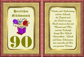 Geburtstagskarten 90 Jahre