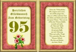 Geburtstagskarten 95 Geburtstag