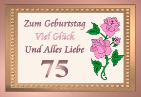 Lustiger Spruch Zum 75 Geburtstag Coole Spruche Zum