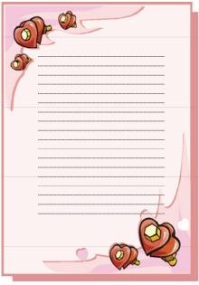 Liebesbriefe schreiben - Briefpapier vorlagen kostenlos ...