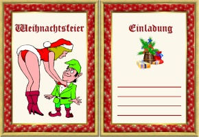 weihnachtsfeier einladung lustig, Einladung